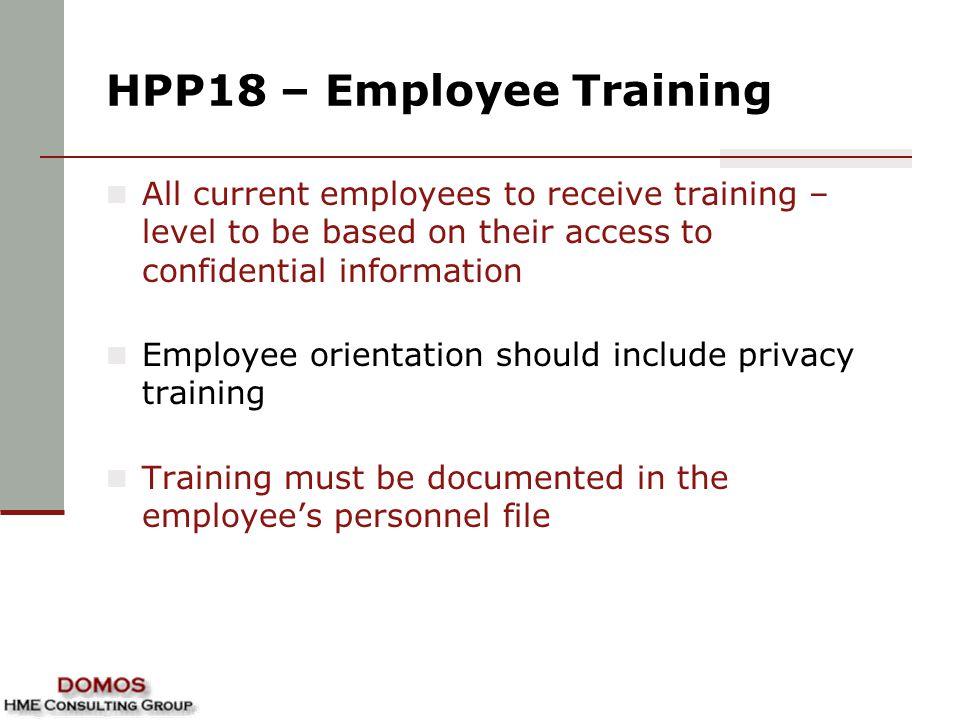 HPP18 – Employee Training