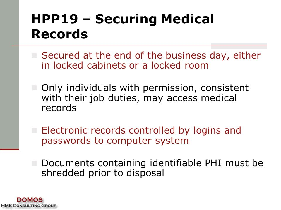 HPP19 – Securing Medical Records
