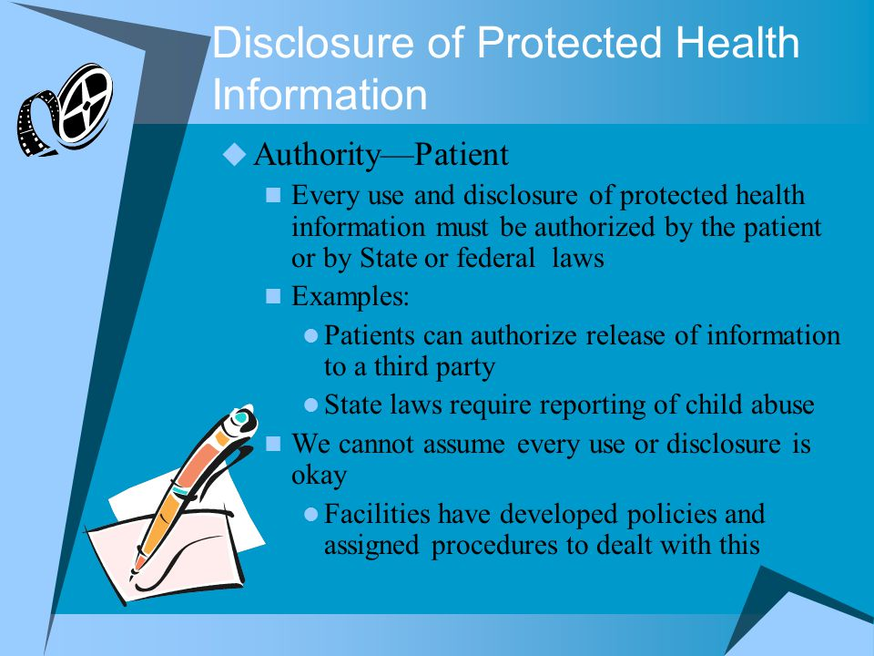 Disclosure of Protected Health Information