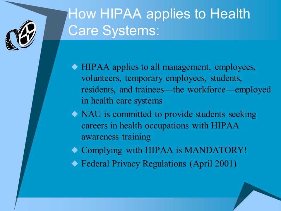 How HIPAA applies to Health Care Systems: