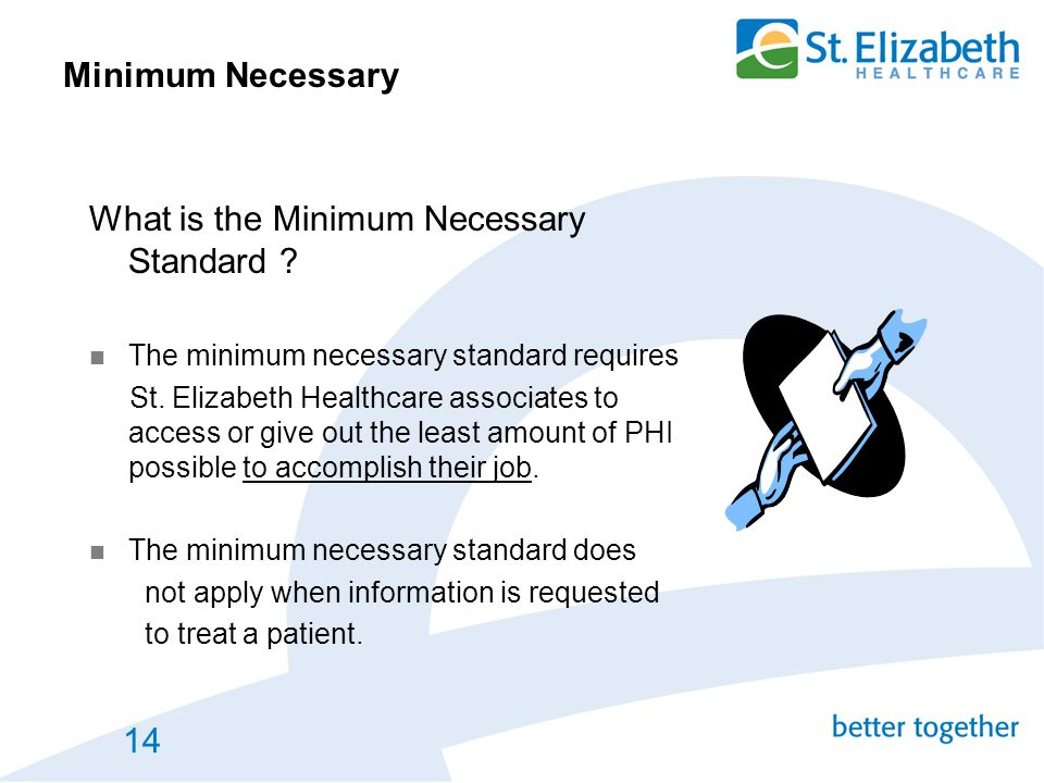 What is the Minimum Necessary Standard