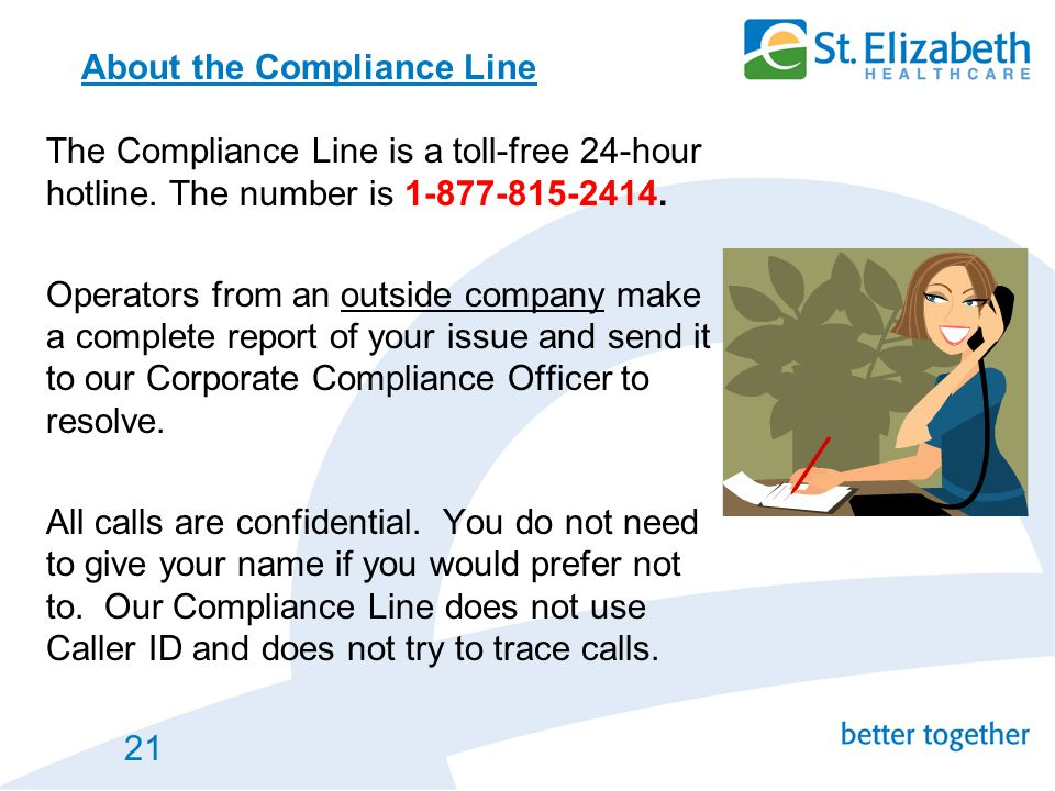 About the Compliance Line