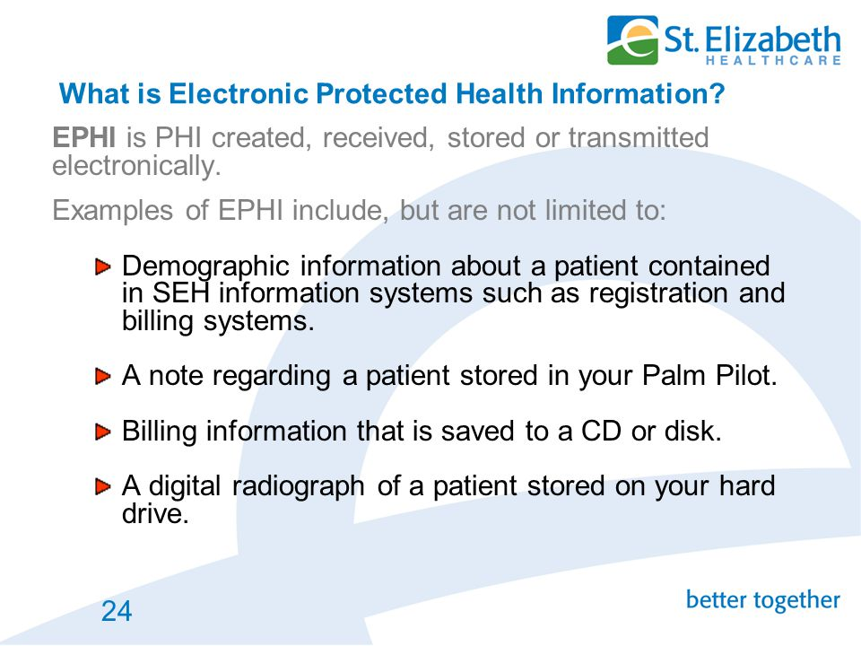 What is Electronic Protected Health Information