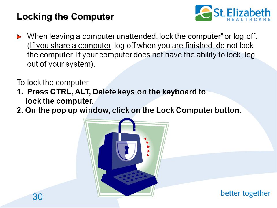 Locking the Computer