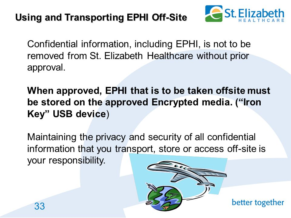 Using and Transporting EPHI Off-Site