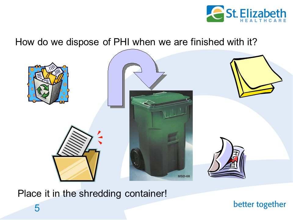How do we dispose of PHI when we are finished with it