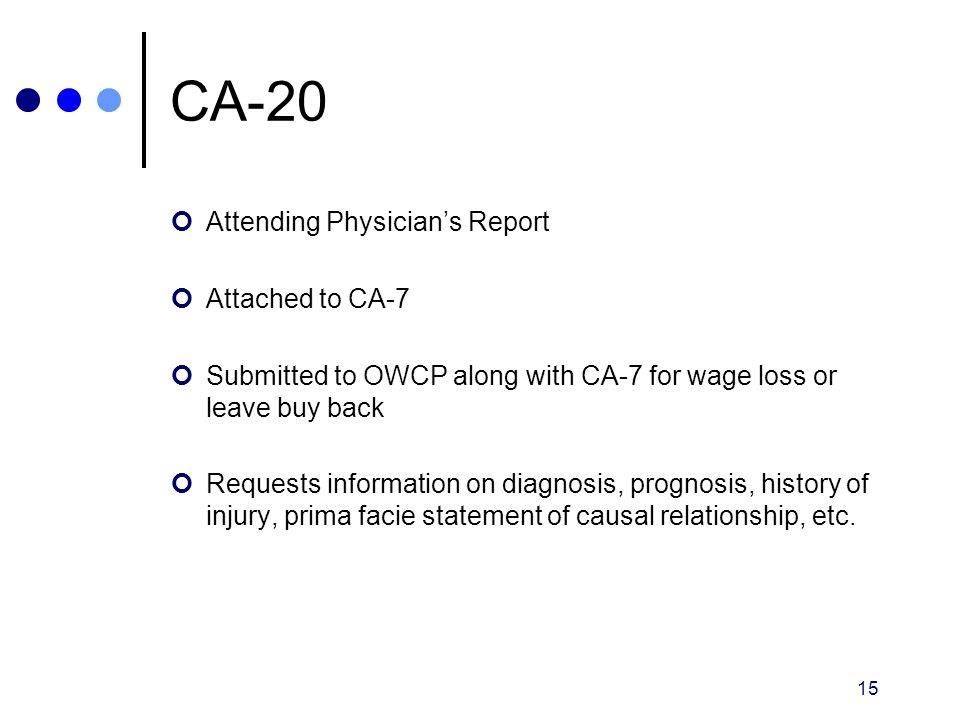 CA-20 Attending Physician's Report Attached to CA-7