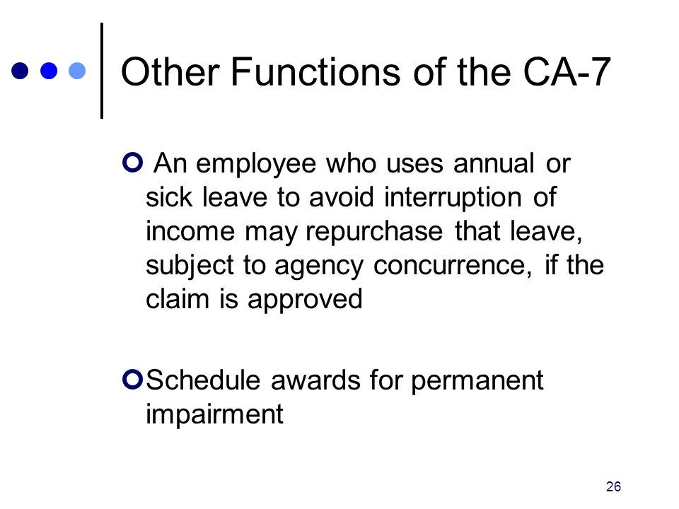 Other Functions of the CA-7