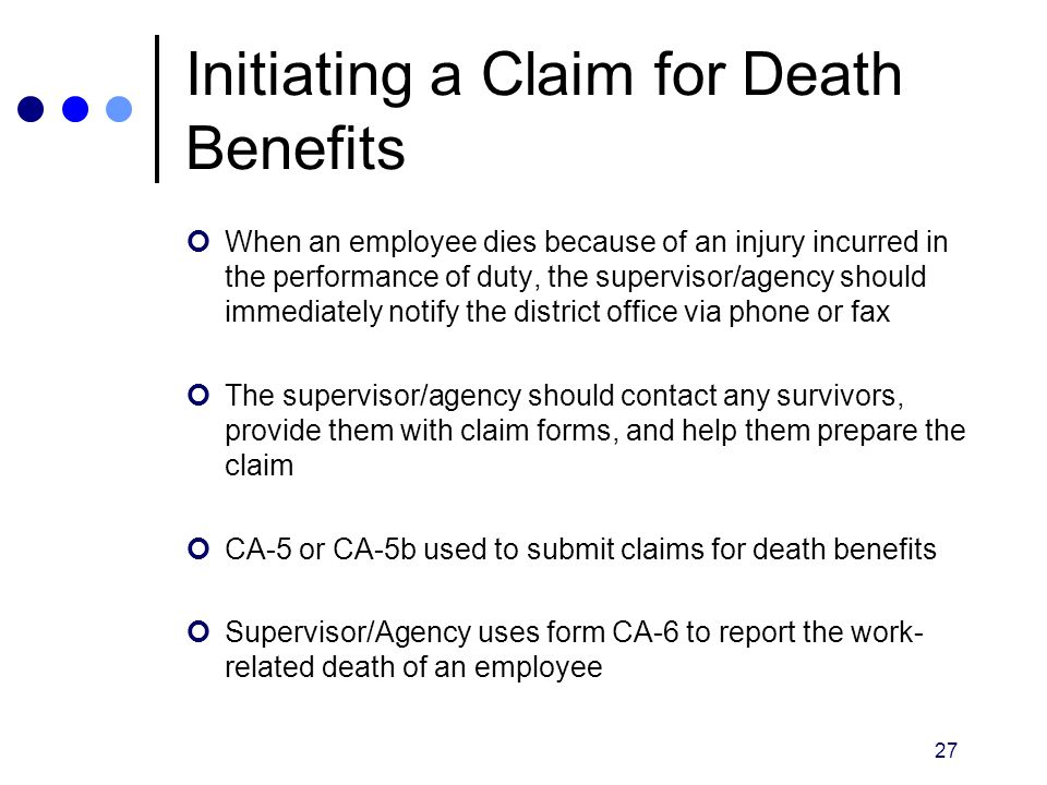 Initiating a Claim for Death Benefits
