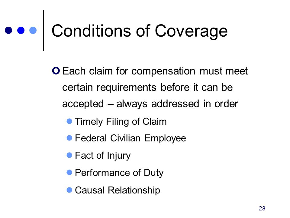 Conditions of Coverage