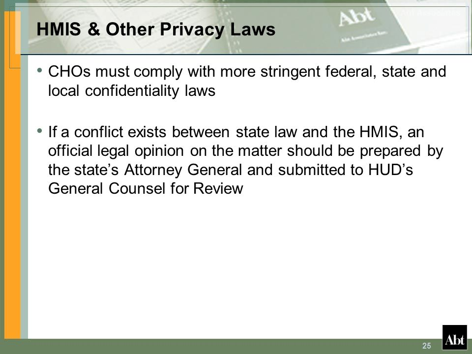 HMIS & Other Privacy Laws