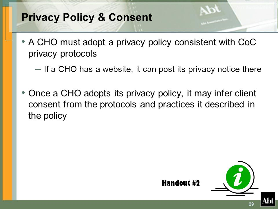 Privacy Policy & Consent
