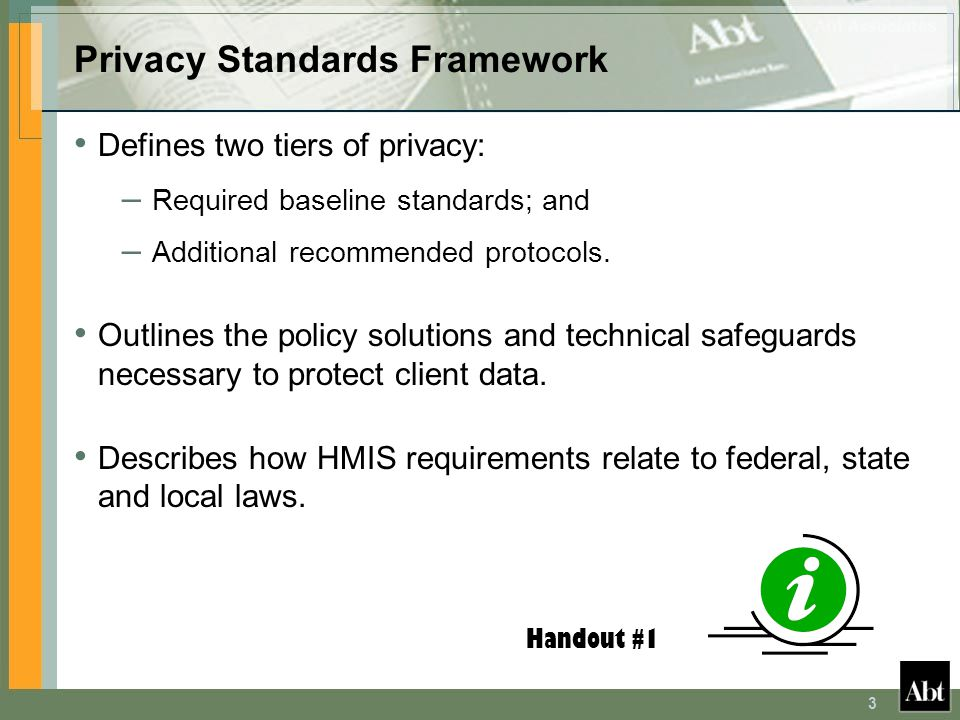 Privacy Standards Framework