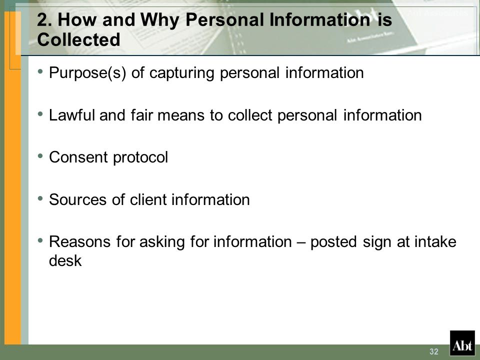 2. How and Why Personal Information is Collected