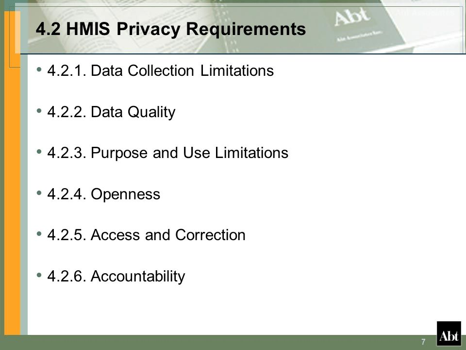 4.2 HMIS Privacy Requirements