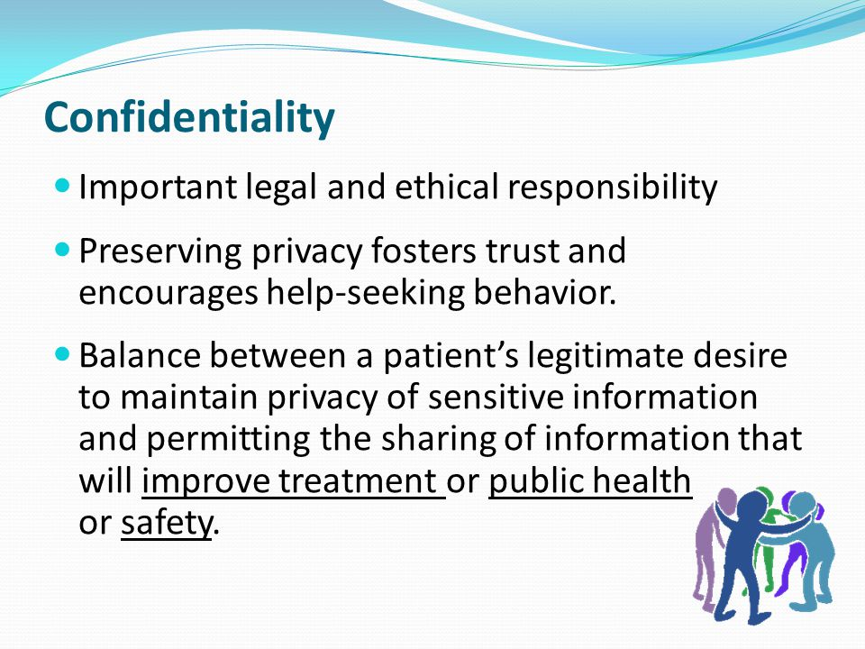 Confidentiality Important legal and ethical responsibility