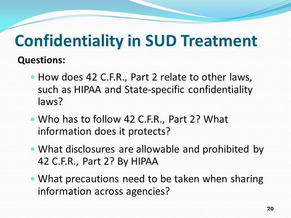 Confidentiality in SUD Treatment