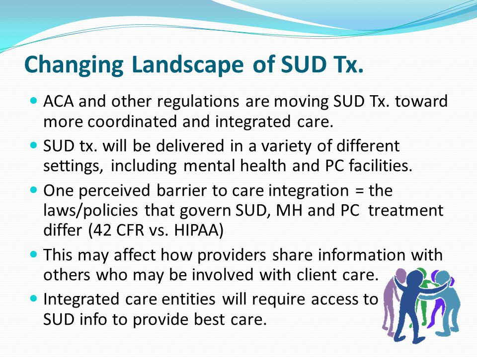 Changing Landscape of SUD Tx.