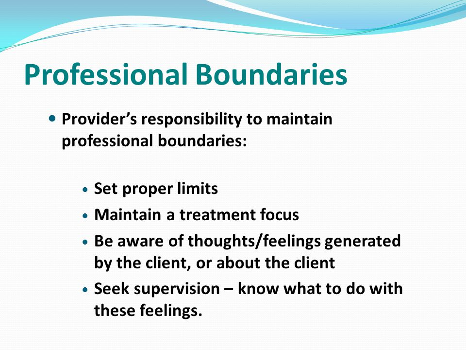 Professional Boundaries