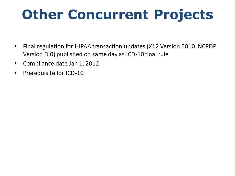 Other Concurrent Projects