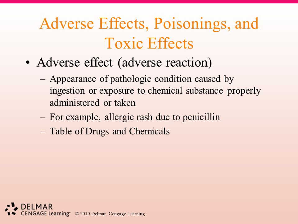 Adverse Effects, Poisonings, and Toxic Effects
