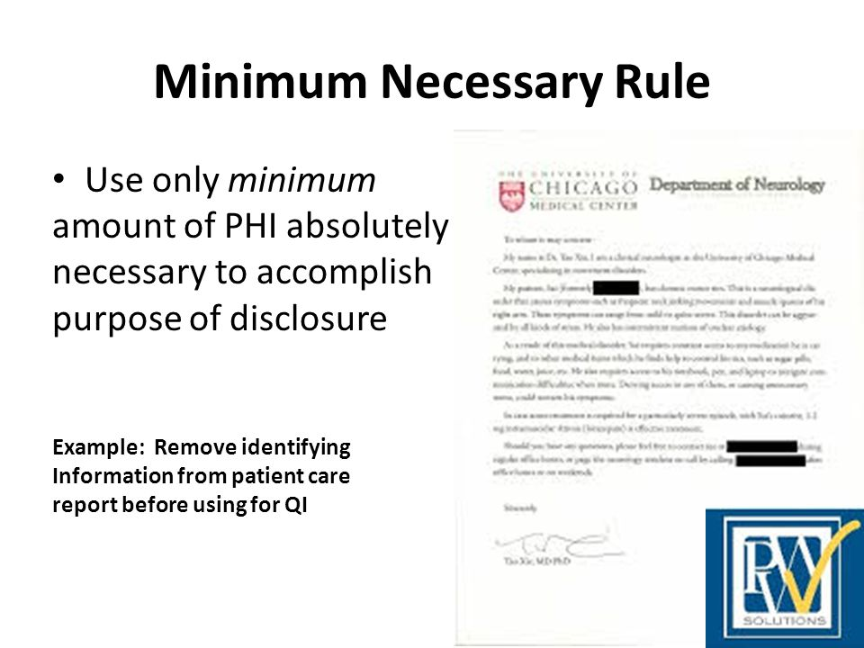 Minimum Necessary Rule