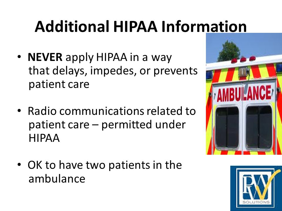 Additional HIPAA Information