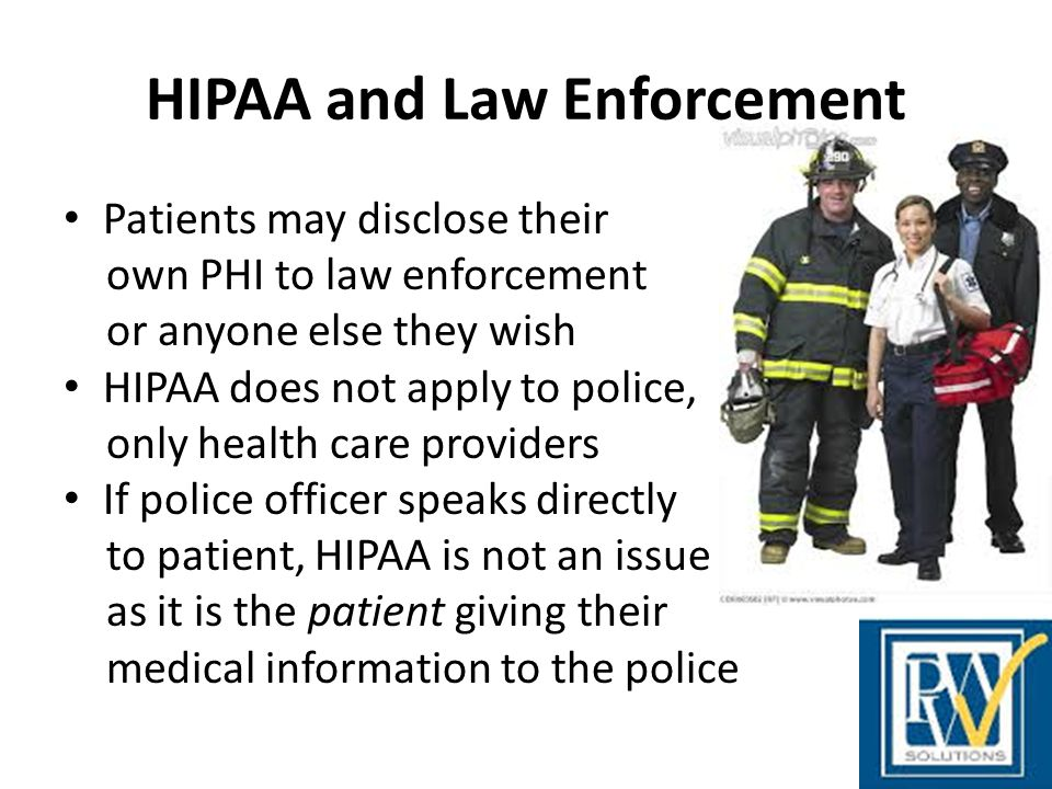HIPAA and Law Enforcement