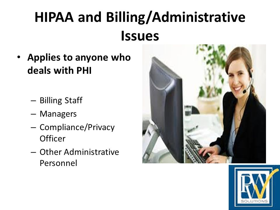 HIPAA and Billing/Administrative Issues