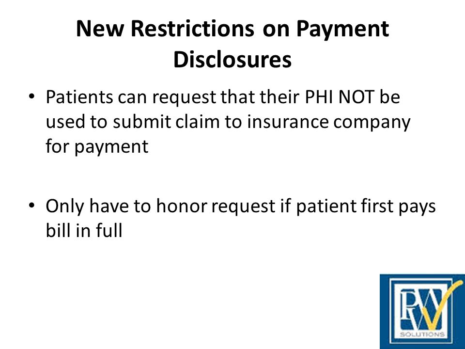 New Restrictions on Payment Disclosures