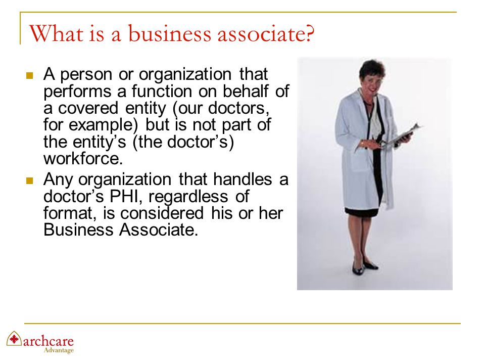 What is a business associate