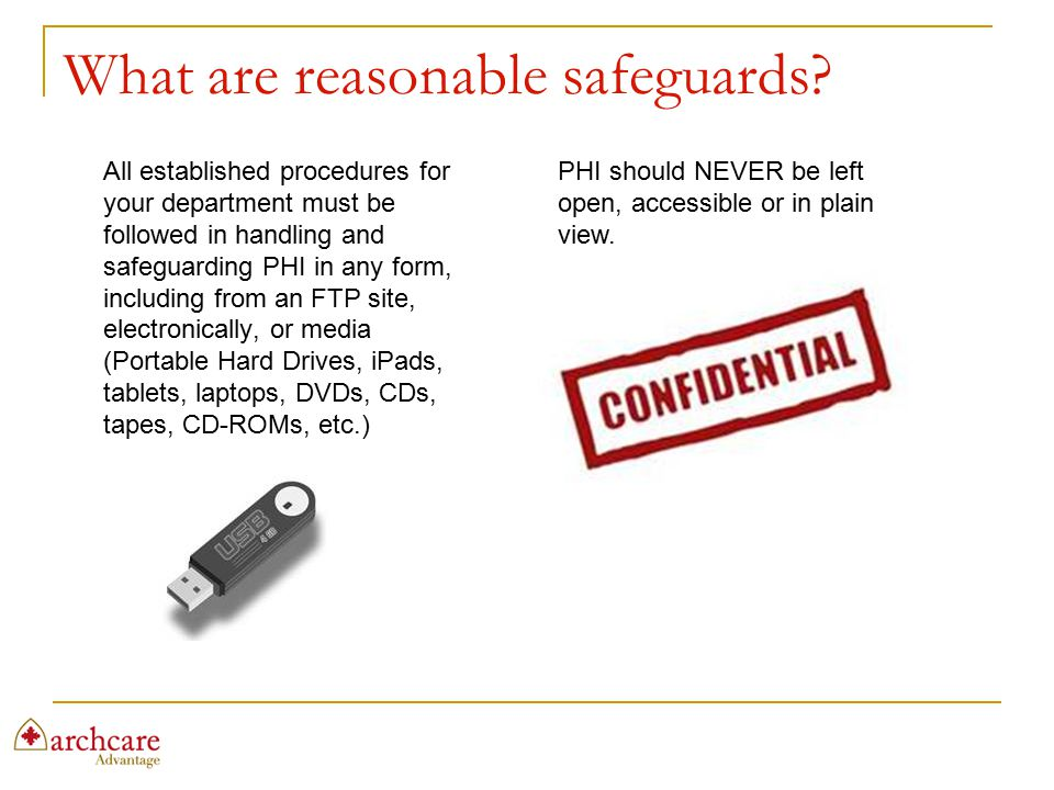 What are reasonable safeguards
