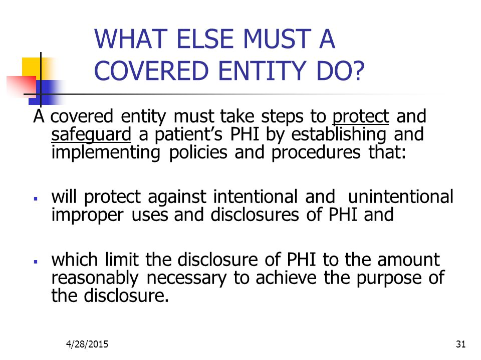 WHAT ELSE MUST A COVERED ENTITY DO