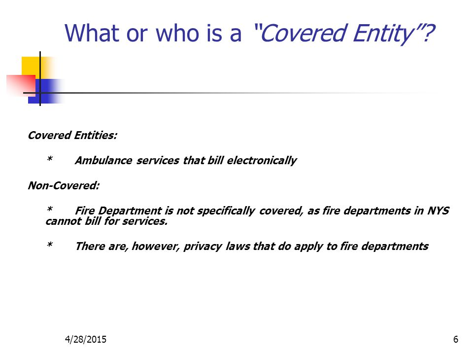 What or who is a Covered Entity