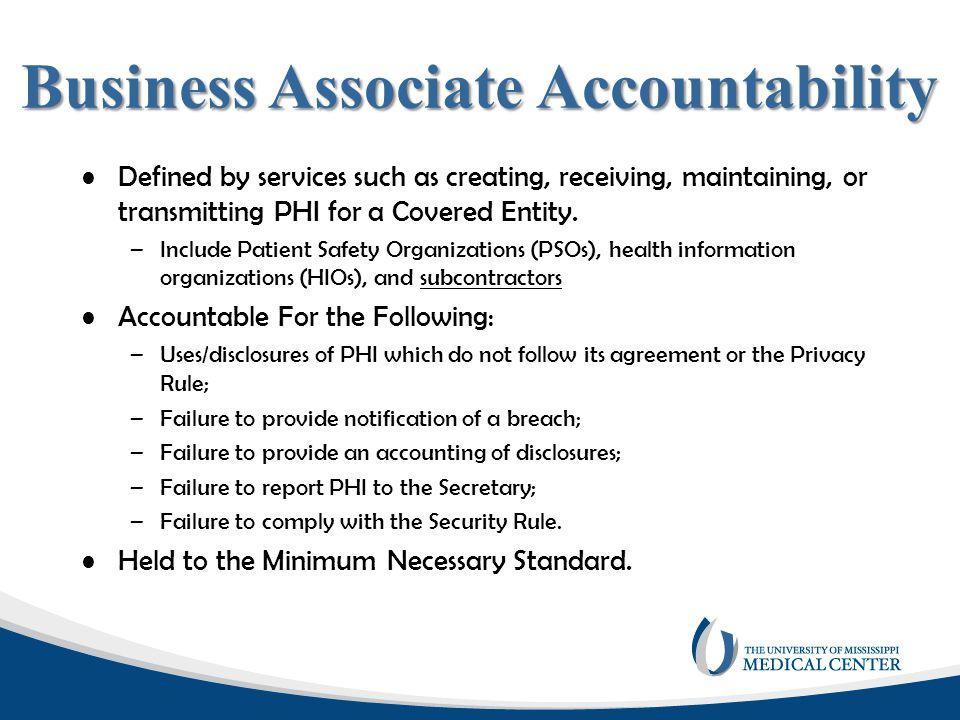 Business Associate Accountability