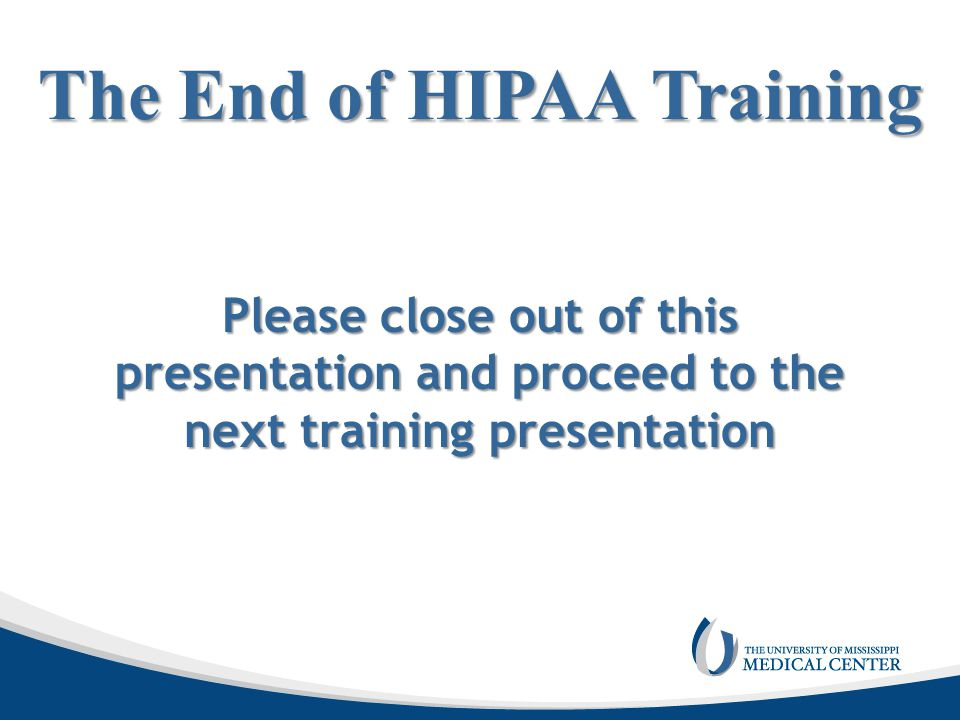 The End of HIPAA Training