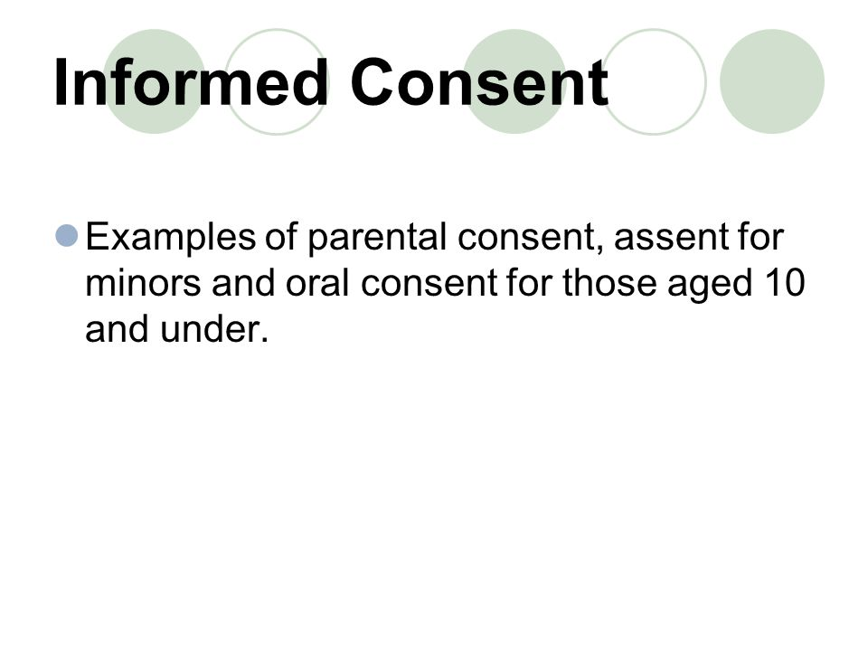 Informed Consent. - ppt download