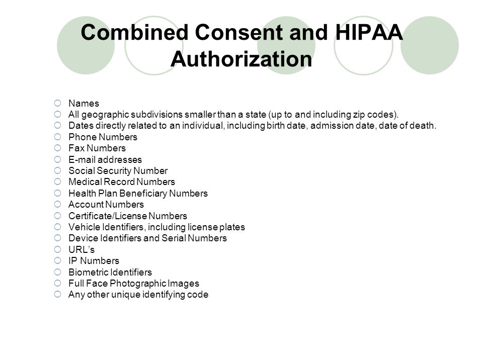 Combined Consent and HIPAA Authorization