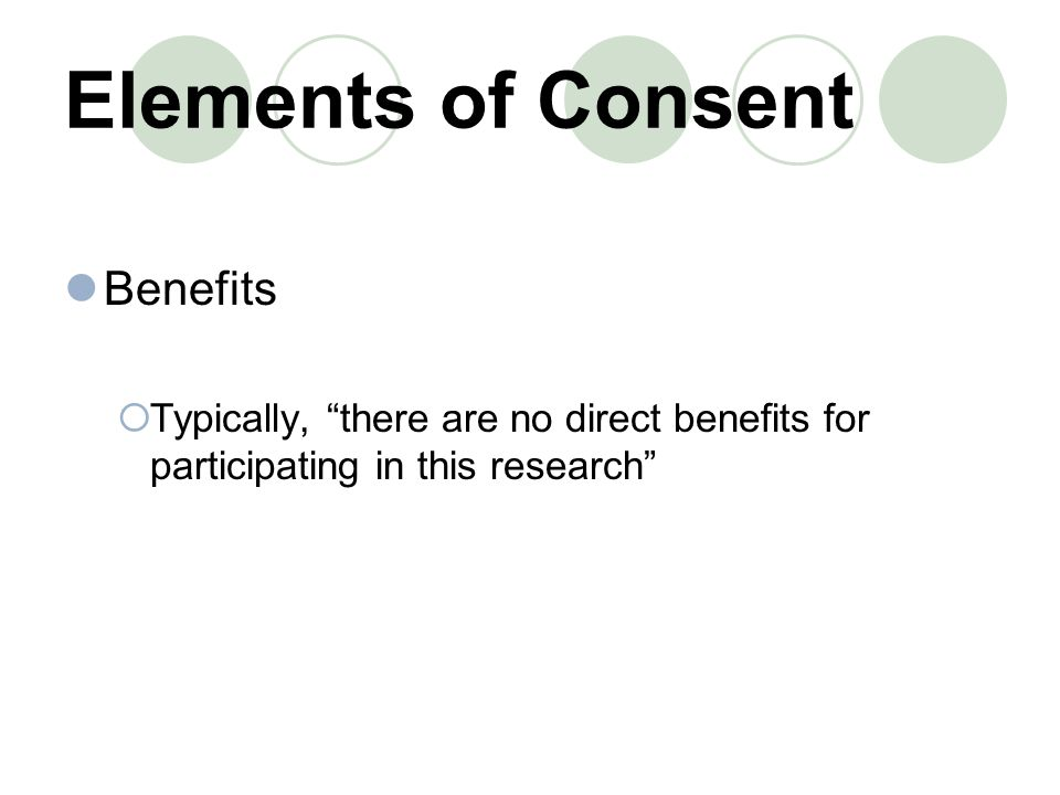 Elements of Consent Benefits
