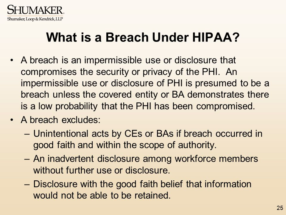 What is a Breach Under HIPAA
