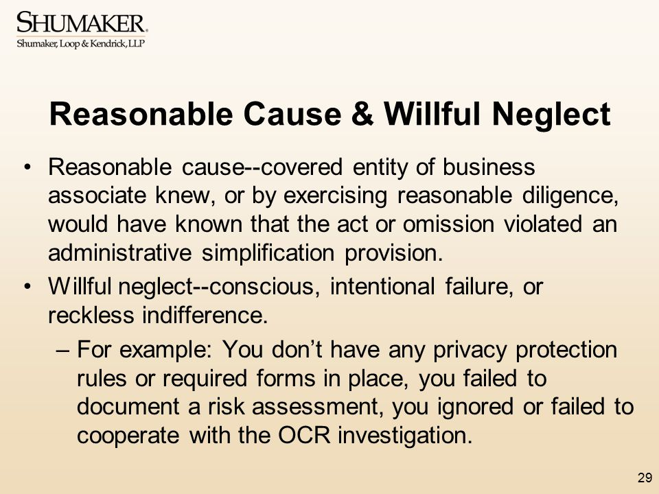 Reasonable Cause & Willful Neglect