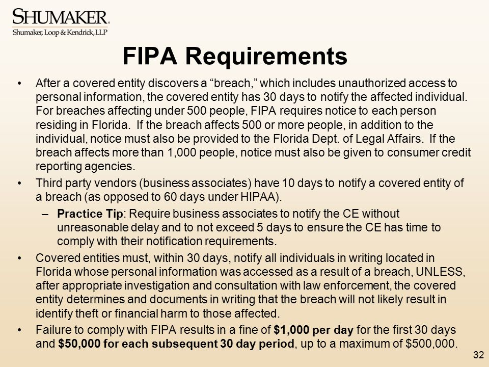 FIPA Requirements