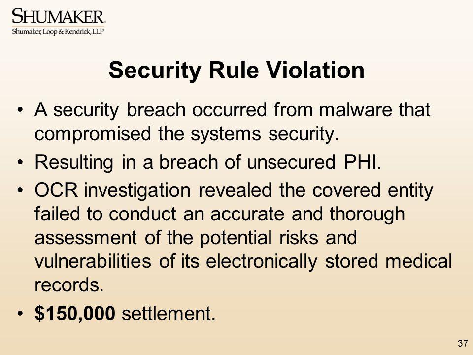 Security Rule Violation