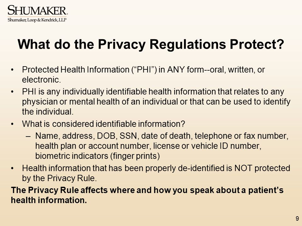What do the Privacy Regulations Protect