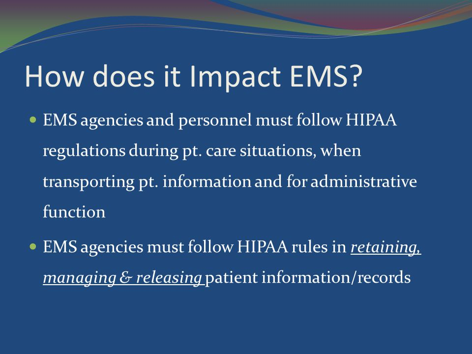 How does it Impact EMS