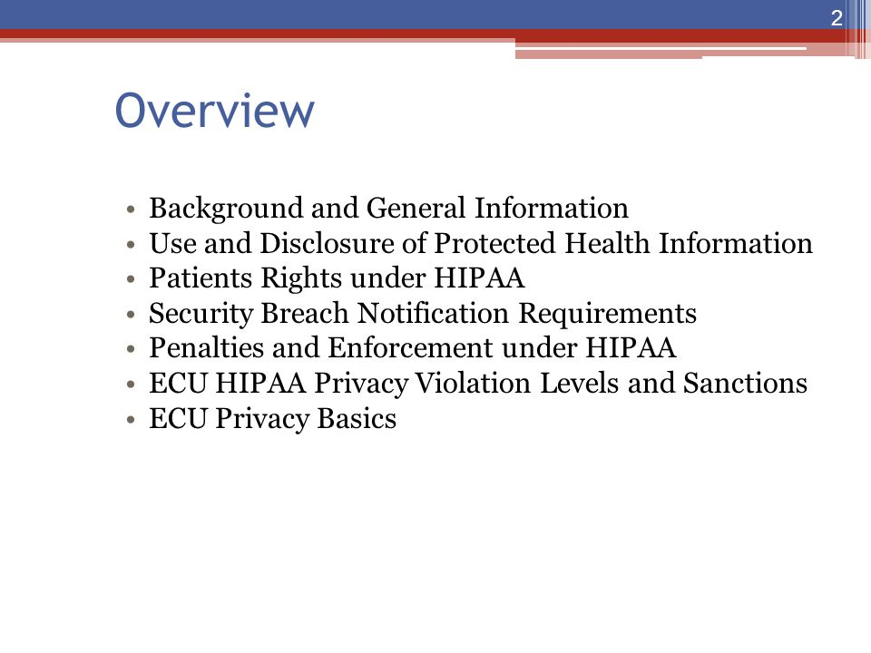 Overview Background and General Information