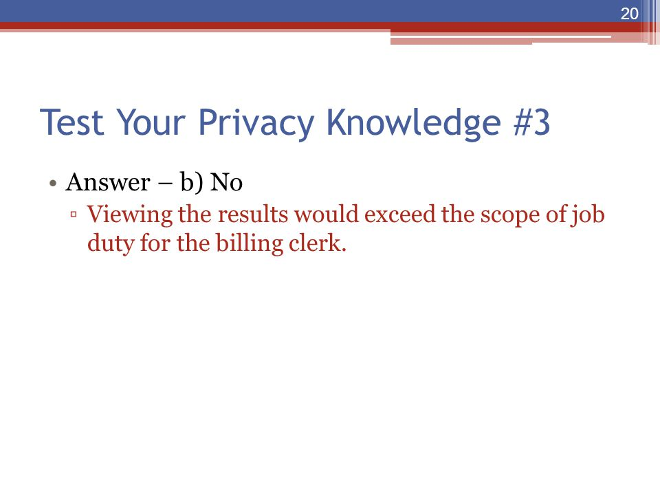 Test Your Privacy Knowledge #3