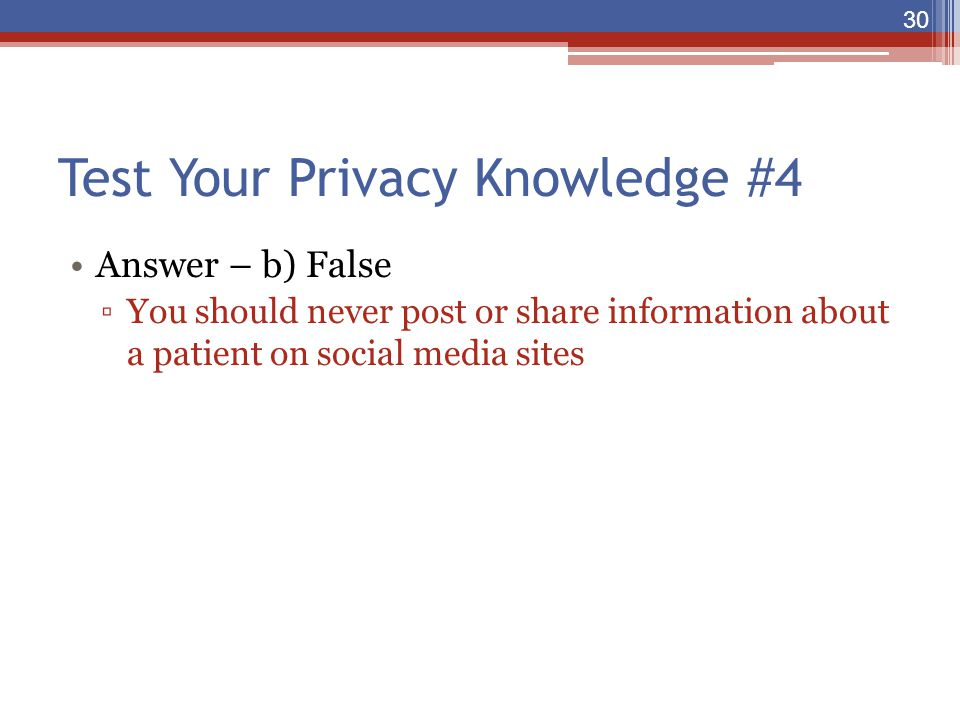 Test Your Privacy Knowledge #4