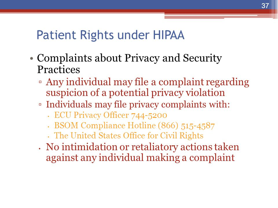 Patient Rights under HIPAA