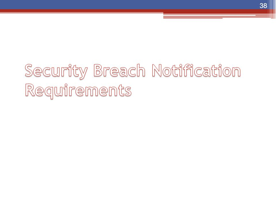 Security Breach Notification Requirements